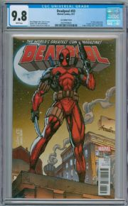 Deadpool #33 Jim Lee X men Trading Card Variant CGC 9.8  Marvel comic book